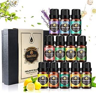 Innoo Tech Essential Oil Set for Diffuser, 12 x 10 mL, Pure Lavender, Eucalyptus, Lemon, Lemongrass, Sweet Orange, Tea Tre...