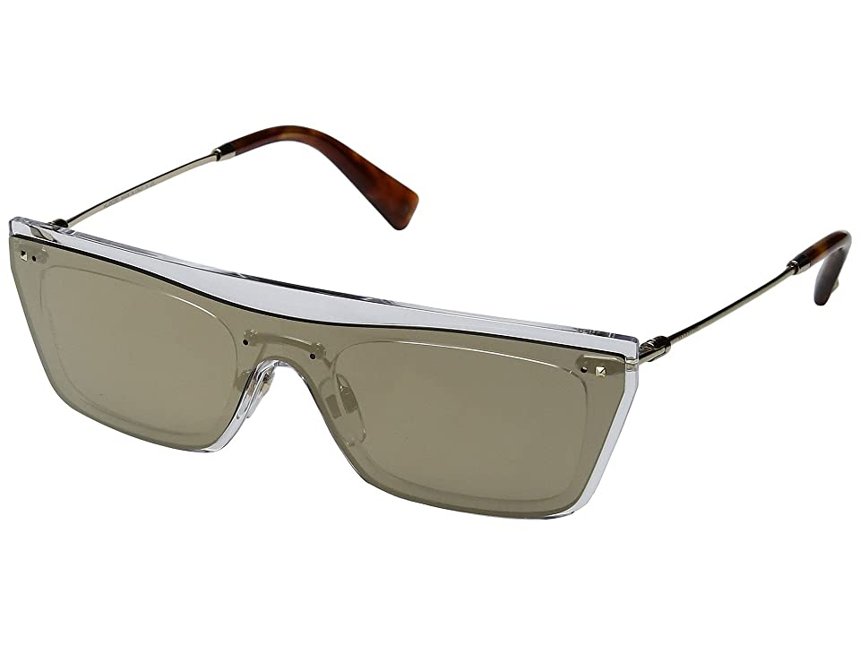 Valentino VA 4016 (Mirror Light Gold/Light Havana) Fashion Sunglasses
