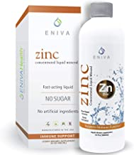 Eniva Liquid Ionic Zinc   Immune Health, Vision, Skin   Made in USA   Vegan, Low-Carb and Keto Approved   No Artificial Co...