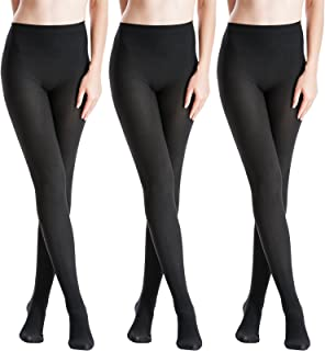 371565edf784b Zeraca Women's 120D Sheer To Waist Pattern Footed Opaque Tights 1 or 3 Pack