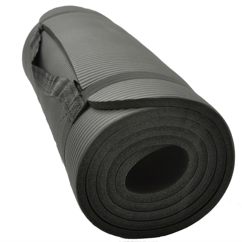 Macallen TM - Esterilla para yoga o base para saco de dormir (10 mm), color negro: Amazon.es: Deportes y aire libre