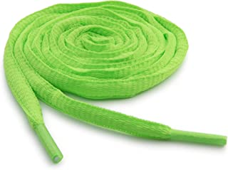 neon green oval shoelaces