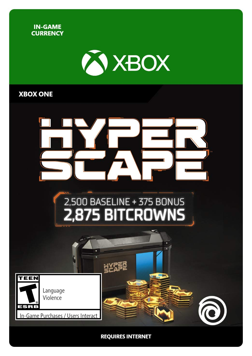 Hyper Scape Virtual Currency 2875 Bitcrowns Dig Branded goods Long-awaited Xbox Pack - One