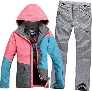 GS SNOWING Women's Waterproof Windproof Snowboard Suit Ski Coat and Pants