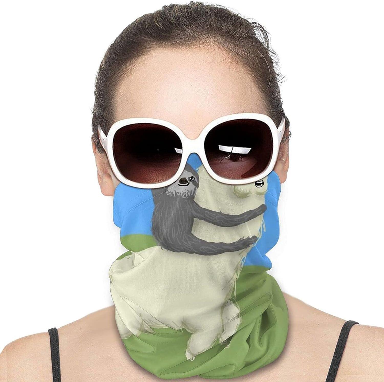 Cute Sloth Llama - Neck Gaiter Windproof Face Cover Balaclava Outdoors Magic Scarf Headband for Men Women Motorcycling Fishing Running Climbing