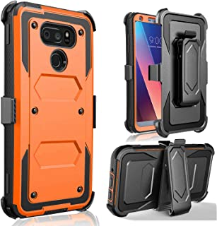 LG V30 Case, LG V30 Plus Case - Jwest Full-Body Rugged Belt Clip Holster Kickstand Case Without Built-in Screen Protector ...