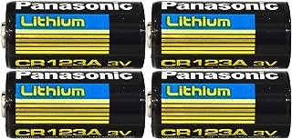 Panasonic CR123A Lithium 3V Photo Lithium Batteries, 0.67