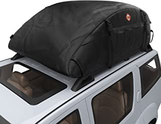 COOCHEER Car Roof Carrier- Waterproof Universal Soft Rooftop Bag Luggage Cargo Carriers for Car with Racks,Travel Touring,Cars,Vans, Suvs (Upgrade 15 Cubic Feet)