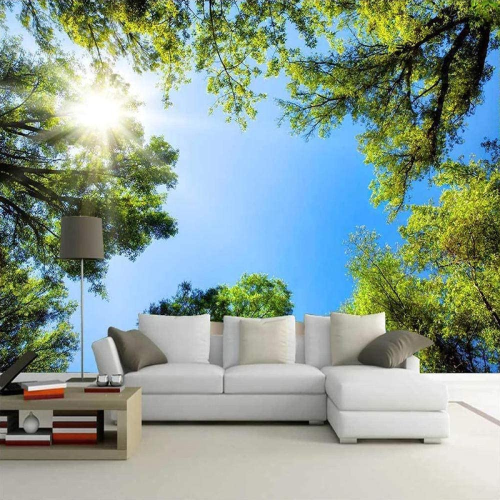 XIAOHUKK 3D self-Adhesive Wallpaper Tucson Mall Green Sky Forest Sunlig Blue New Orleans Mall