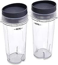 Nutri Ninja (16 oz Single Serve Cups with Lids for Ninja BL660, 2-Pack)