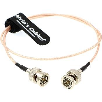 Alvins Cables Blackmagic RG179 Coax BNC Male to Male HD SDI Cable for BMCC Video Camera Flexible 45CM