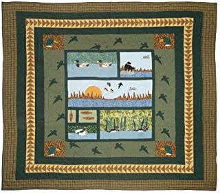 Patch Magic Twin Mallard Quilt, 65-Inch by 85-Inch