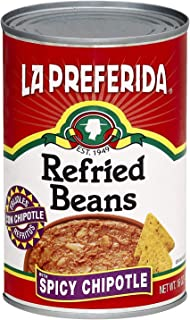 La Preferida Refried Beans, Spicy Chipotle, 16-Ounce (Pack of 3)