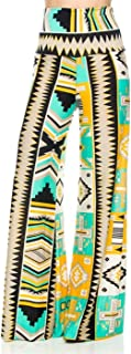 Women's Mix Print High Waisted Wide Leg Palazzo Pants