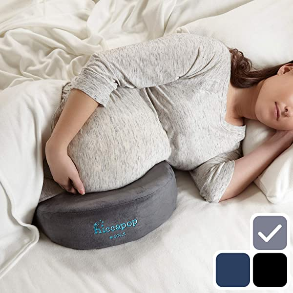 Hiccapop Pregnancy Pillow Wedge For Maternity Memory Foam Maternity Pillows Support Body Belly Back Knees