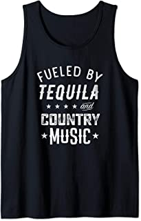 Fueled By Tequila and Country Music Gift for Country Lovers Tank Top