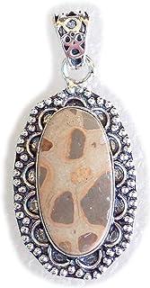 Poppy Jasper Pendant, Silver Plated Brass Pendant, Handmade Pendant, Gift Jewelry, Women Jewellry, Fashion Jewellry, BRS-1...