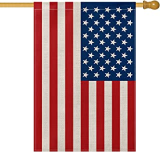 AVOIN American US Flag House Flag Vertical Double Sided, Patriotic Flag of The United States Stars and Stripes Old Glory Yard Outdoor Decoration 28 x 40 Inch