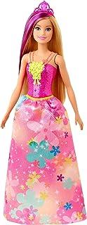 Barbie Dreamtopia poupée princesse aux cheveux blonds avec mèche violette, jouet pour enfant, GJK13