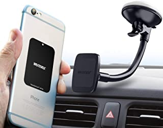 Magnetic Windshield Phone Mount Hexadyium with Magnet to Hold Cellphones Samsung S8 & S8 Plus, iPhone 7 Plus, by Pro Drivers - Heavy Duty Adjustable Cell Phone Magnetic Mounting System