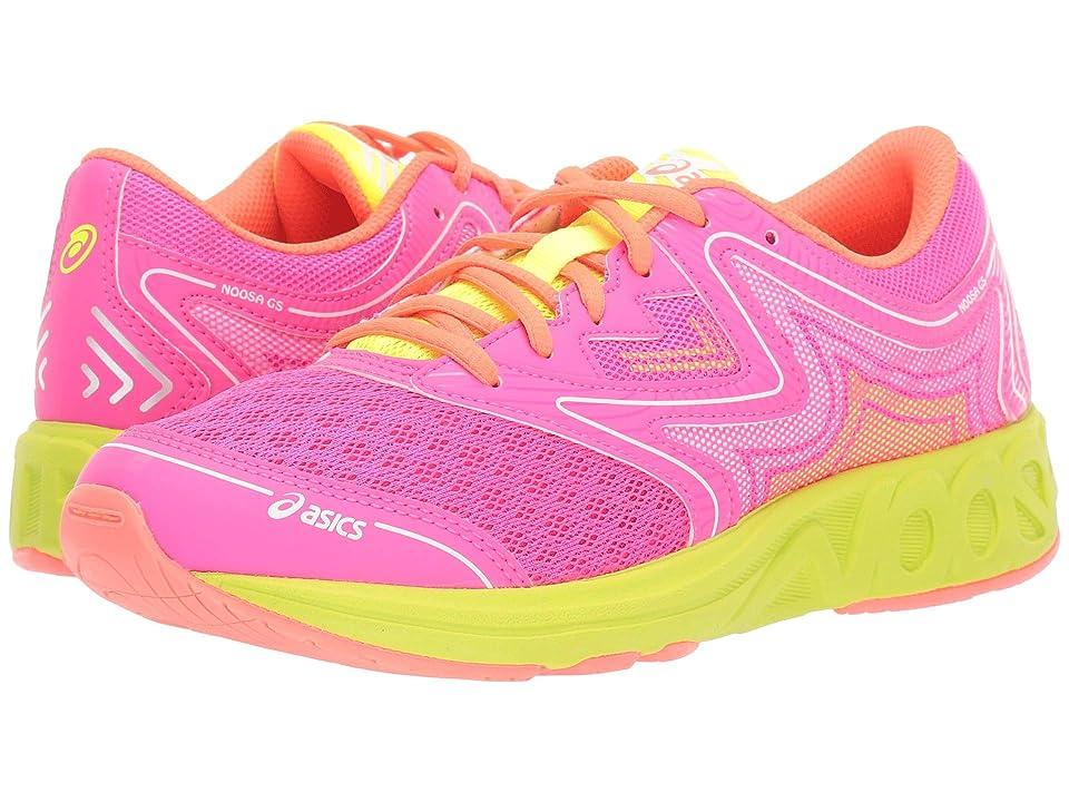 ASICS Kids Noosa GS (Big Kid) (Pink Glo/Flash Yellow) Girls Shoes
