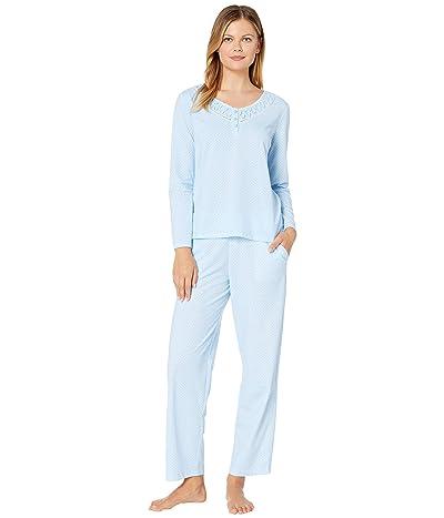 Karen Neuburger Last Waltz Long Sleeve Pullover PJ (Dot Blue) Women