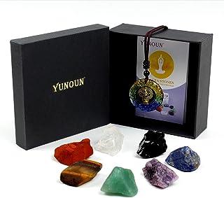Yunoun Reiki Healing Crystal Chakra Stones - Natural Rough Raw Stone for Crystal Healing Kits
