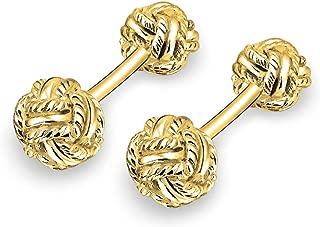 14k solid gold cufflinks