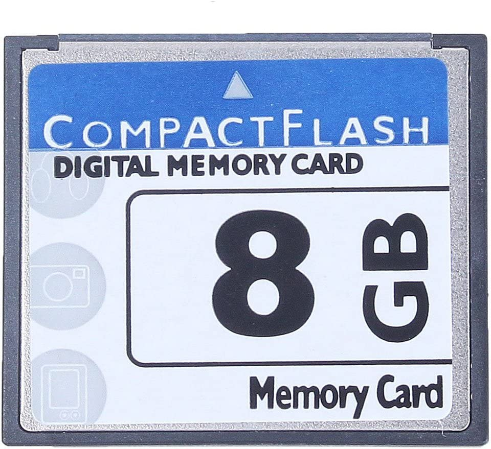 WATFOERS Professional 8GB Compact Flash Memory Card(White&Blue)