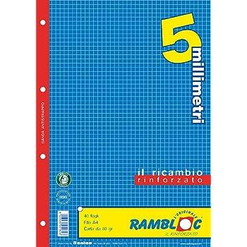 Ricambio rinforzato Rambloc Pacco da 4 Ricambi A4 4mm. 160 fogli totali
