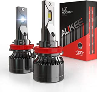 H11 LED Headlight Bulb, Aukee H8 H9 110W High Power 18,000LM Extremely Bright 6000K Cool White CSP Chips Conversion Kit Adjustable Beam