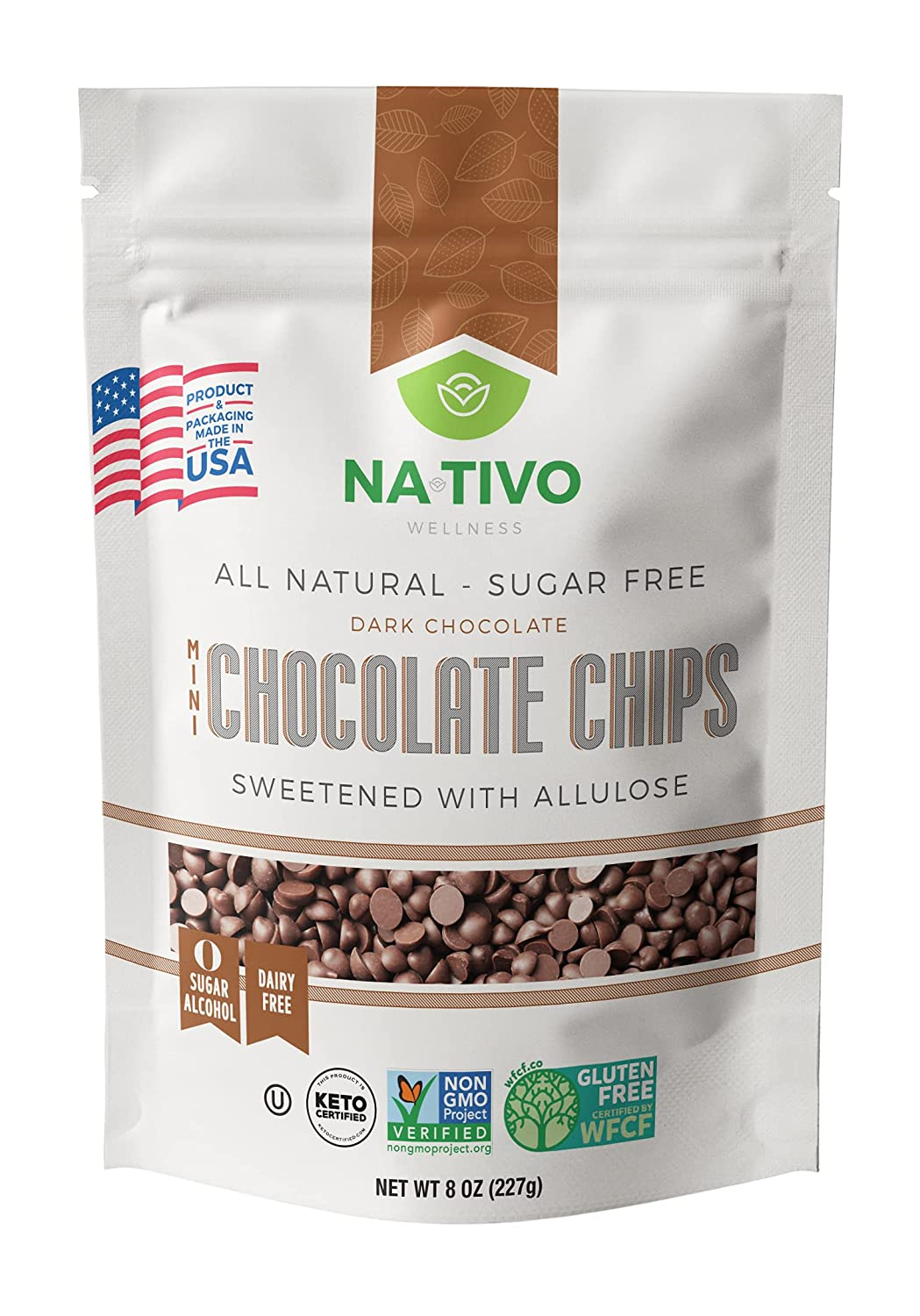 NATIVO DARK outlet MINI CHOCOLATE CHIPS SWEETENED ALLULOSE - Super popular specialty store MADE WITH