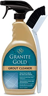 Granite Gold Grout Cleaner and Scrub Brush Acid-Free Cleaning for Porcelain, Ceramic..