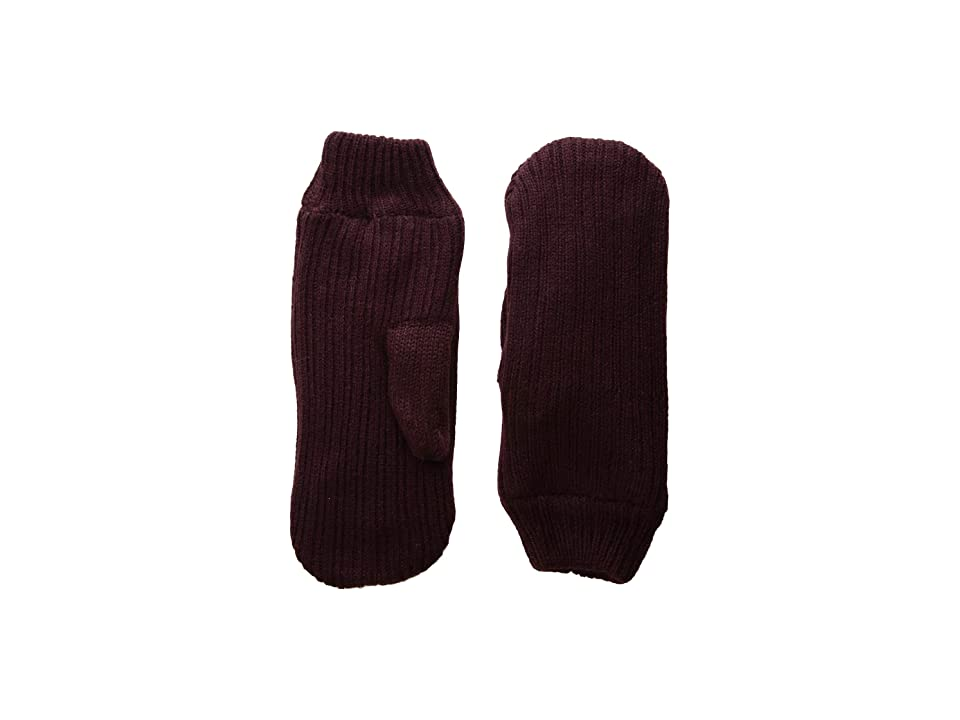 Hat Attack Rib Knit Mitten (Plum) Over-Mits Gloves