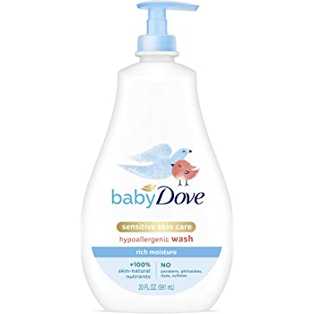 Baby Dove Tip to Toe Baby Wash and Shampoo For Baby's Delicate Skin Rich Moisture Washes Away Bacteria, Tear-Free and Hypoallergenic 20 oz