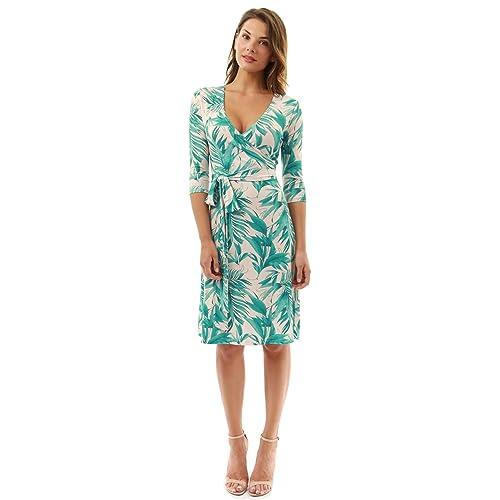 32acd93d99 PattyBoutik Women Faux Wrap A Line Dress