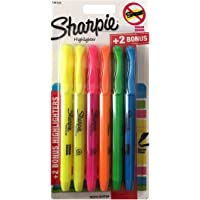 6-Pens Sharpie Pocket Style Highlighters (Assorted Colors)