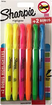 6-Pens Sharpie Pocket Style Highlighters