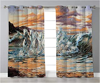 Goods247 Blackout Curtains,Grommets Panels Printed Curtains for Living Room (Set of 2 Panels,55 by 95 Inch Length),Animal Decor