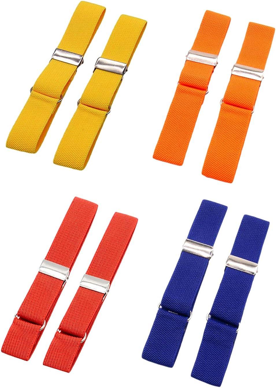 SupSuspen 4 Pairs Shirt Garters Armbands for Men Elastic Sleeve Holders 1
