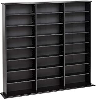 Prepac Triple Width Wall Storage Cabinet, Black (Renewed)