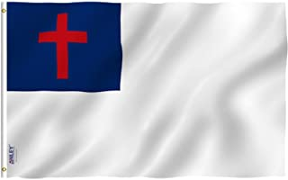ANLEY® [Fly Breeze] 3x5 Foot Christian Flag - Vivid Color and UV Fade Resistant - Canvas Header and Double Stitched - Reli...