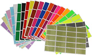 Royal Green Rectangular Label Stickers Adhesive Rectangles in 22 Assorted Colors 40mm x 19mm (1.57 inch x 0.75) Great for Office use - 440 Pack