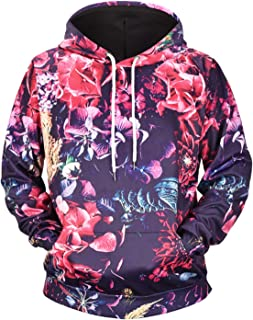 PIZOFF Unisex All Over Funny Print Hoodie Long Sleeve Pullover Sweatshirt with Pockets