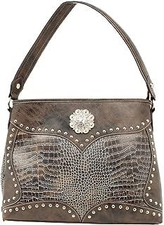 Blazin Roxx Women's Croc Print Concho Concealed Shoulder Bag, Blue, OS
