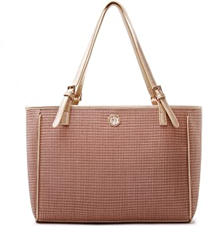 Knit Designer Large Fashion Tote Satchel Shoulder Bag Purse for women