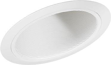 Juno Lighting Group 614W-WH 6-Inch LED Standard Slope Downlight Baffle, 90 Watts, White Trim