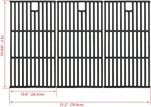 Hisencn Grill Grate Cast Iron Cooking Grid Replacement Parts for Brinkmann 810-8501, Charmglow, Costco Kirkland, Jenn Air 720-0337, Members Mark, Nexgrill, Perfect Flame Gas Grill Models, 19 1/4
