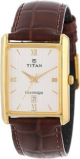 ساعة تايتن كلاسيك ذهبية بخاصية عرض التاريخ للجنسين 669YL01