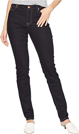 High-Waist Slim Jeans in Blue